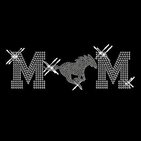 Bling Custom Horse Mom Iron on Crystal Design