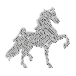 Crystal Horse Design Iron on for T Shirt
