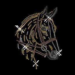 Rhinestone Horse Pattern Cool Iron on for Clothing