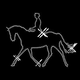 Hotfix Stone Horse Motif Design for Tee Shirt