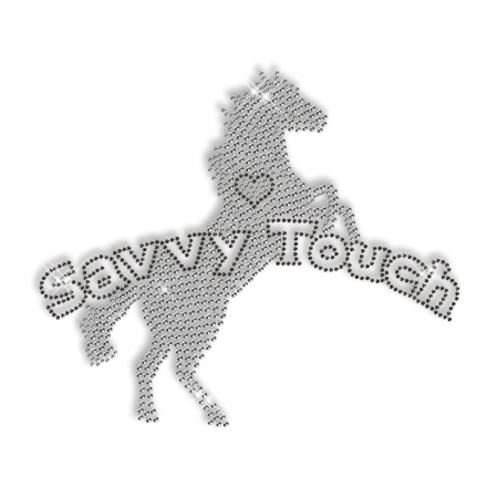 Bling Horse Rhinestud Iron on Transfer Wholesale