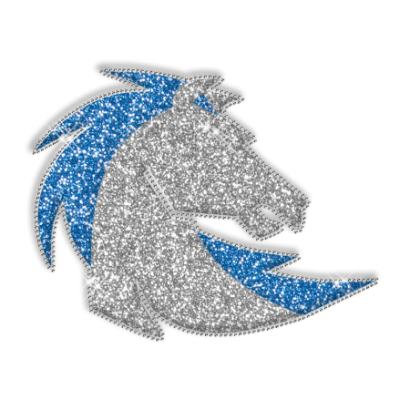 Glitter Handsome Horse Hotfix Design for Clothes