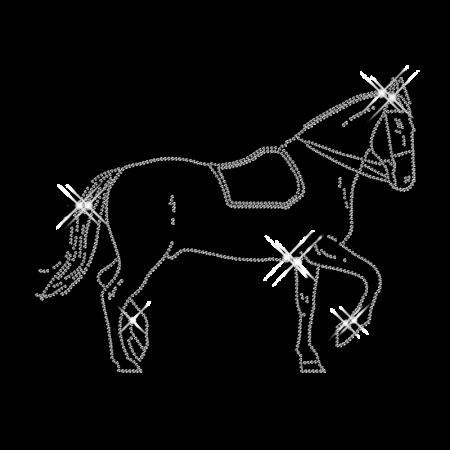 Iron on Design Horse Rhinestone Transfer