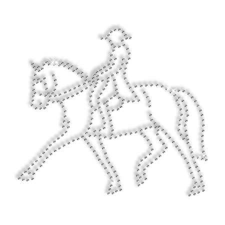Rhinestone Jockey Hot Fix Transfer Design