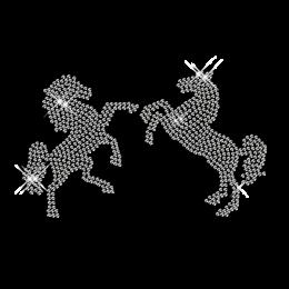 Hotfix Pattern Horse Crystal Motif