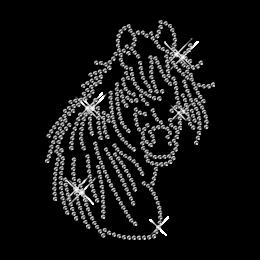 Bling Custom Horse Diamante Iron on Transfer