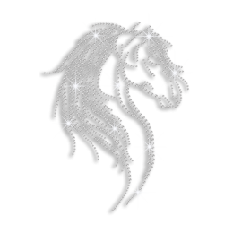 Crystal Horse Iron-on Rhinestone Transfer