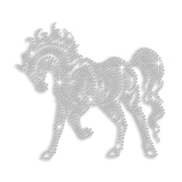 Crystal Standing Horse Iron-on Rhinestone Transfer