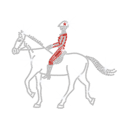 Knight & Horse Iron on Rhinestone Transfer