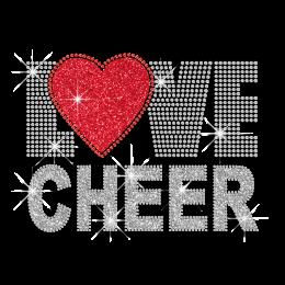 Love Cheer Iron-on Glitter Rhinestone Transfer