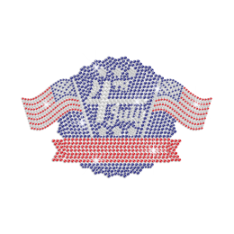 Celebrate Bling 4th of July Iron on Rhinestone Transfer Motif