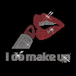 I Do Make Up Lipstick and Lip Iron on Hot Fix Pattern