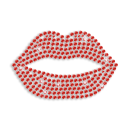Red Lips Sexy Kiss Iron-on Rhinestone Transfer