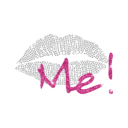 Magic Show Being Me Glitter Lip Heat Press Rhinestone Transfer