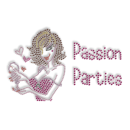 Passion Party Crystal Iron on Bling Design