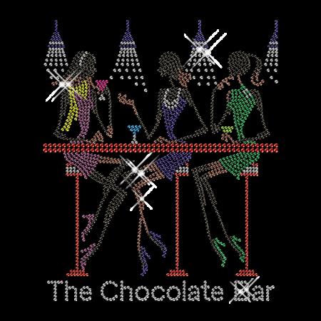 Hot fix Rhinestone Chocolate Club Transfer for Clothing