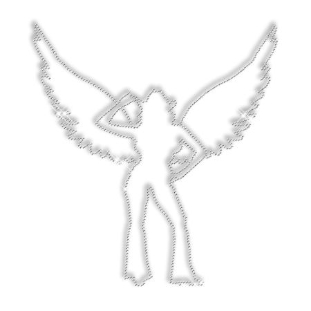 Iron on Stud Lady Transfer Design for T Shirt