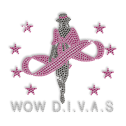 Super Diva Crystal Hot fix Motif Design for T Shirt