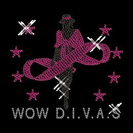 Super Diva Crystal Hot fix Motif Design for T Shirt