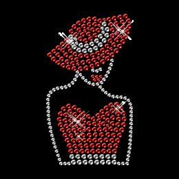 Crystal Iron on Meditating Lady Transfer Design