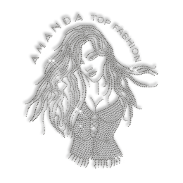 Girl Amanda Stud Hot fix Custom Name Transfer