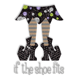 Best Cute Shinning Rhinestone If the Shoe Fits Iron on Transfer Pattern for Clothes
