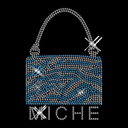 Best Sparkling Rhinestone MICHE Handbag Iron on Transfer Design for Garments