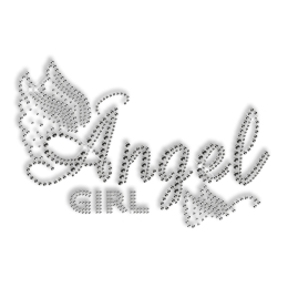 Custom Best Shinning Korean Rhinestone Angel Girl Butterfly Iron on Transfer Design for Clothes