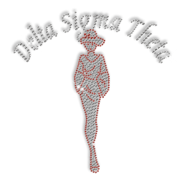 Best Custom Shinning Rhinestone Delta Sigma Theta Beauty Iron on Transfer Design for Shirts