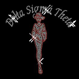 Best Custom Shinning Rhinestone Delta Sigma Theta Beauty Iron on Transfer Design for Shirts