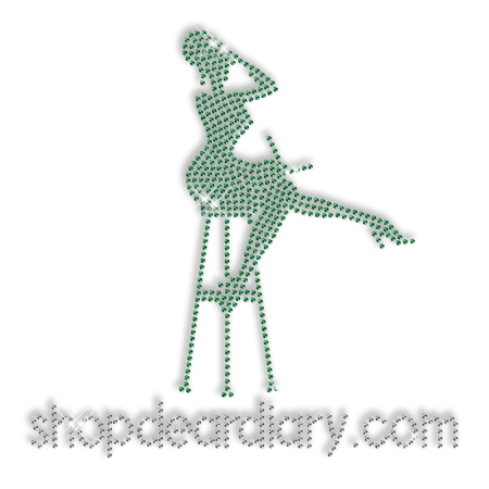 Best Custom Sparkling Green Rhinestone Shopdeardiary Iron on Transfer Design for Clothes