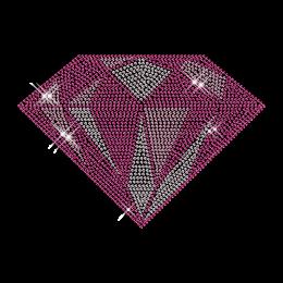 Big Custom Sparkling Rhinestud Pink Diamond Iron on Transfer Design for Shirts