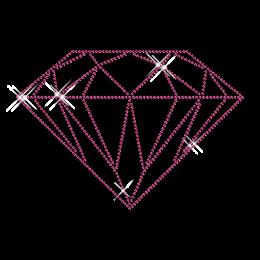 Best Shinning Rose Rhinestone Diamond Iron on Transfer Design for Clothes