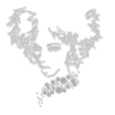 Cool Afro Rhinestone Iron on Transfer for Shirts