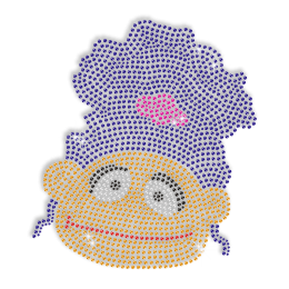 Cute Afro Girl Iron on Bling Transfer Pattern for Shirts