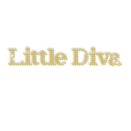 Twinkling Yellow Little Diva Strass Iron on Motif