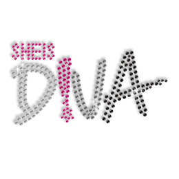 She is Diva Sequin Hotfix Design
