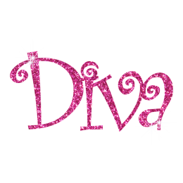 Sparkle Pink Diva Hotfix Glitter Design for Shirts