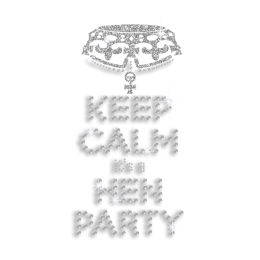 Bling Keep Calm It\'s Hen Party Iron-on Rhinestone Transfer