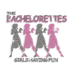 Bling Bachelorette Party Fun Iron-on Rhinestone Transfer