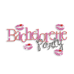 Wonderful Bachelorette Party Iron-on Rhinestone Transfer