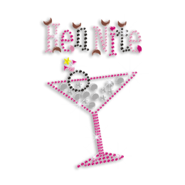 Cute Hen Night & Drink Iron-on Rhinestone Transfer Motif