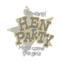 Happy Hen Party Iron-on Rhinestone Transfer Design