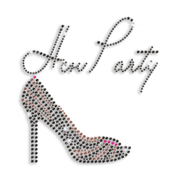 Sexy Hen Party & Heel Iron-on Rhinestone Transfer Design