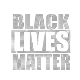Customized Black Lives Matter Iron on Rhinestone Transfer Decal