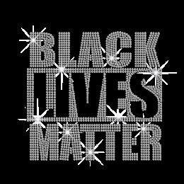 Customized Black Lives Matter Iron on Rhinestone Transfer Decal