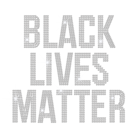 Wholesale Black Lives Matter Iron on Rhinestone Transfer Decal