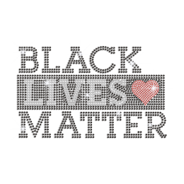 Bling Black Lives Matter Iron on Rhinestone Transfer Decal