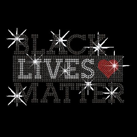 Bling Black Lives Matter Iron on Rhinestone Transfer Decal