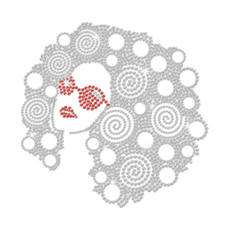 Fascinating Girl with Silver Hair And Red Glasses Iron on Rhinestud Transfer Decal
